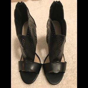 Just fab black leather 4inches heels size 9